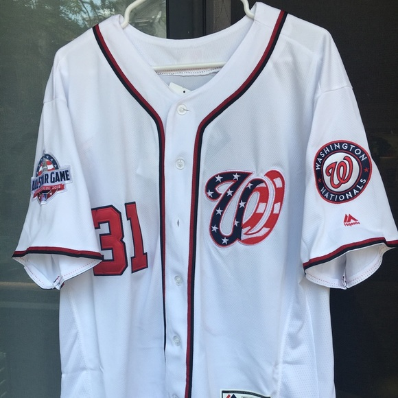 finest selection 2b5a5 8ab94 Washington Nationals Scherzer Jersey w/ ASG Patch NWT